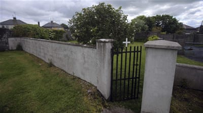 The entrance to the site of a mass grave of hundreds of children in Tuam [File: Reuters]
