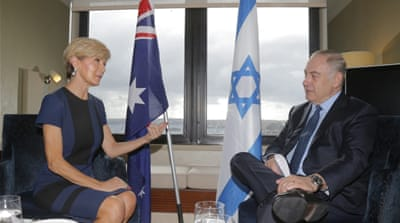 Australia encourages Israel's occupation of Palestine
