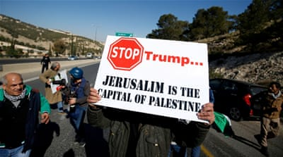 Trump's promise to relocate the embassy angered Palestinians [Mohamad Torokman/Reuters]