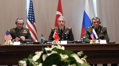 The generals represent different coalitions fighting against ISIL [Turkish army press office/EPA]