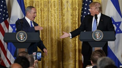 During his recent meeting with Trump, Netanyahu said Israel has no better ally than the US [Evan Vucci/AP]