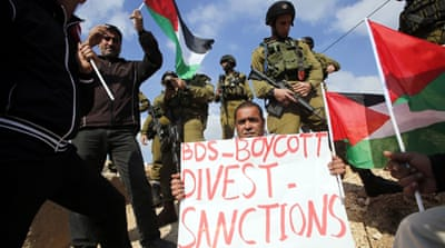 The global BDS movement aims to put pressure on Israel to end its occupation of Palestinian territories [Abed Al Hashlamoun/EPA]