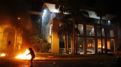Why was Paraguay's Congress burning?