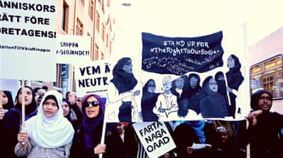 May Day rallies for Muslim women's labour rights