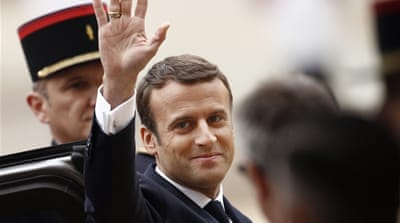 Emmanuel Macron takes office as French president