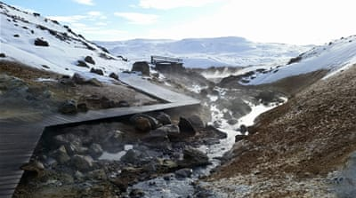 Turning CO2 into stone in Iceland