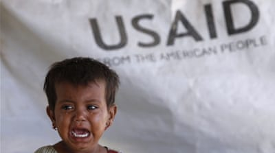 The recipients of US foreign aid have received destruction and development in a single package, writes Zakaria [Akhtar Soomro/Reuters]