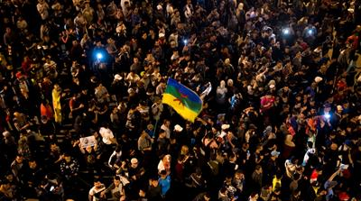Protestors have come out on the streets every night since Friday [Fadel Senna/AFP]