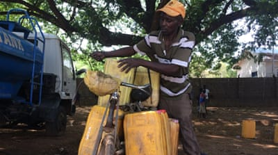 A day in the life of Juba's bicycle water vendors