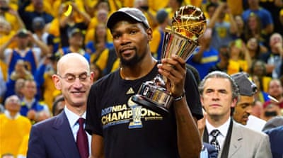Durant stars as Warriors beat Cavaliers in NBA Finals