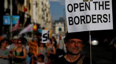 Madrid protesters demand Spain take in more refugees
