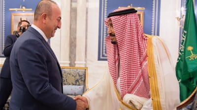 The journalists were detained while covering the visit of the Turkish foreign minister to Saudi Arabia [Reuters]