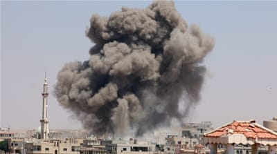 US-led attacks in Syria 'kill 472 civilians in a month'