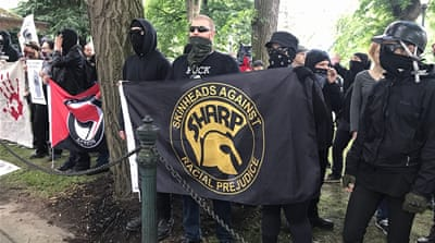 Alt-right rally draws protests in Portland, Oregon