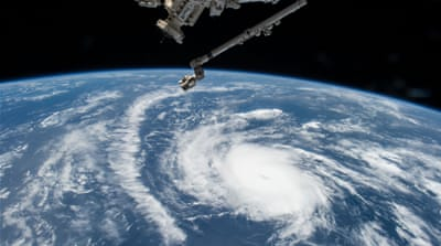 NASA astronaut Scott Kelly photographed Hurricane Danny as the ISS orbited the central Atlantic Ocean on August 20, 2015 [NASA]