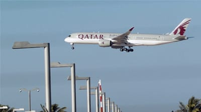 Dozens of flights, a majority of which belonged to Qatar Airways, were grounded across the region on Tuesday [Reuters]