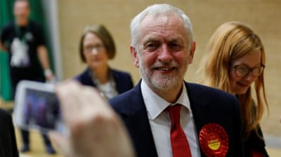 A popular election campaign by Jeremy Corbyn has resulted in more votes for the left-wing Labour Party [Niklas Hallen/AFP]