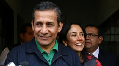 Ollanta Humala and wife detained in corruption probe