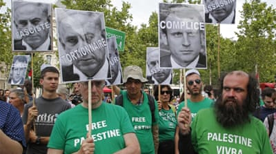 Protesters in Paris rally against Israeli PM's visit