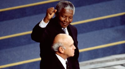 Nelson Mandela and FW de Klerk: Enemies for peace
