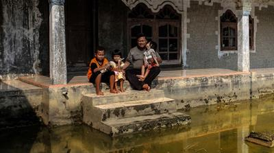 The drowning villages of Indonesia