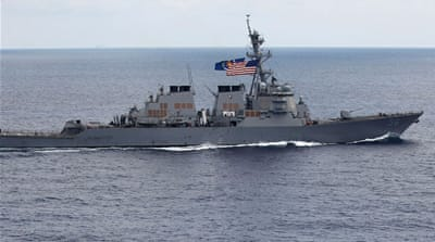China protests US ship near South China Sea island