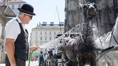 Heat builds up in southern and eastern Europe