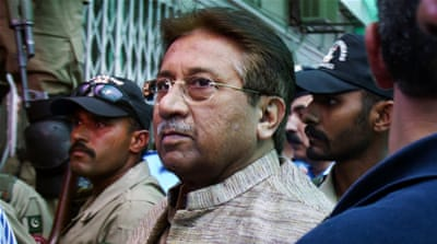 Musharraf declared fugitive in ex-PM Bhutto's murder