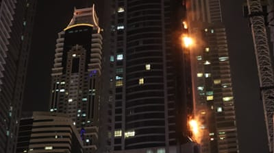 Firefighters extinguish blaze at Dubai skyscraper