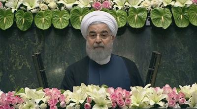 At inauguration Hassan Rouhani urges more talks