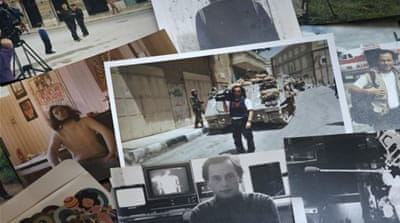 A collage of old photos of Jorge Lubbert [Screengrab/Al Jazeera]