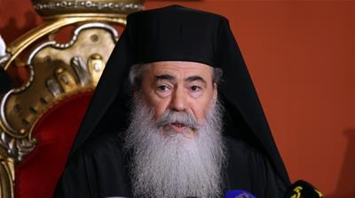 Palestinians decry church patriarch's role in land deal