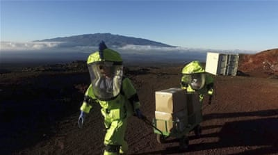 A simulated voyage to Mars: Crew emerges from isolation