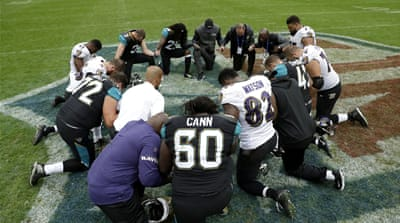 Wave of protests grip NFL after Trump's player comments
