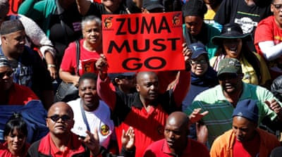 The call for Zuma to step down is gathering steam, although it's unclear if the ANC will take any action [Reuters]