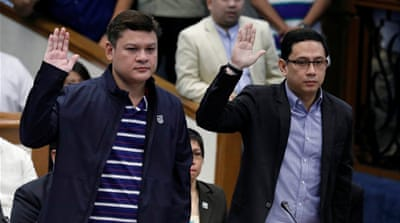 Manases Carpio and Paolo Duterte grilled in drug case