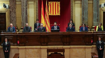 Catalan MPs meet for first time since referendum bid