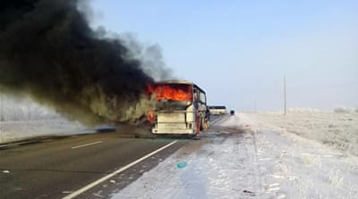 Bus fire kills 52 Uzbeks in Kazakhstan