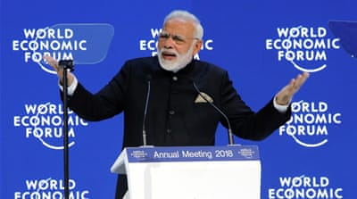 Indian PM Modi, in Davos, decries protectionism