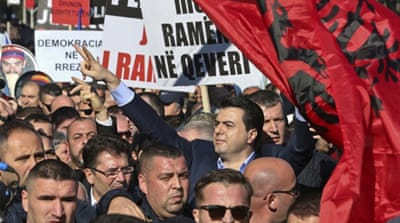 Thousands of Albanians call for Edi Rama's resignation