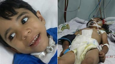 Boy blinded and paralysed in Gaza war dies aged nine