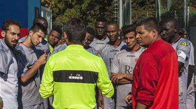 Refugee football teams battle far-right racism in Italy
