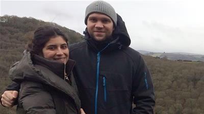 Matthew Hedges and his wife Daniela Tejada [Family handout via AFP]