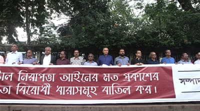 Bangladesh editors protest 'chilling' Digital Security Act