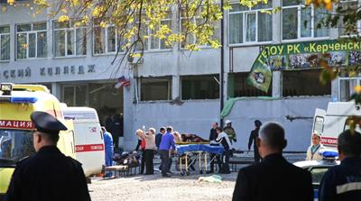 The attack took place at a vocational school in the city of Kerch in Russian-annexed Crimea [Kerch.FM/ AFP]