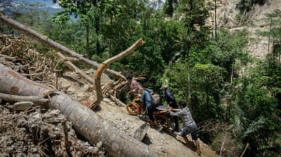 In hills of Sulawesi Indonesia quake survivors chafe at aid rules