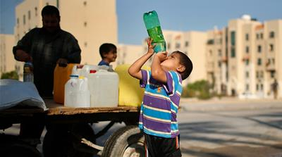 How can Gaza's contaminated water catastrophe be solved?
