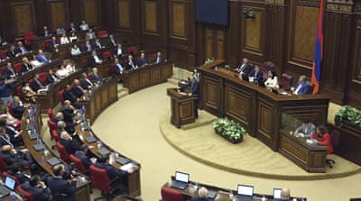 Armenian parliament dissolved, paving way for snap election