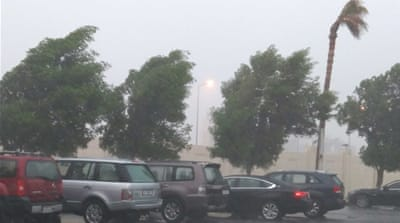 Why is it raining so much in Qatar this season?