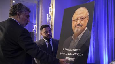 Mourners hold 'funeral prayer' for Jamal Khashoggi at US memorial